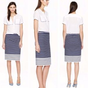 J Crew // Colorblock Stripe Pencil Skirt